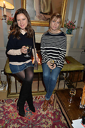 Left to right, SOPHIE GOODWIN and VIOLET VESTEY at a ladies lunch hosted by Katie Readman for sisters Lucia & Rosie Ruck Keene founders of a new fashion label - Troy, held at 5 Hertford Street, London on 27th January 2015.
