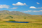 Tundra and Richardson Mountains on the Dempster Highway north of the Arctic Circle into NWT<br /> Dempster Highway<br /> Northwest Territories<br /> Canada