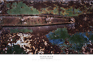 20x30 poster print of rust and paint on old iron.