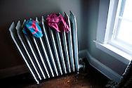 Underwear on radiator