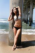 Attractive Female Asain Model On The Beach