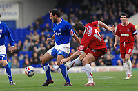 Photo: Ashley Pickering.<br />Ipswich Town v Southend United. Coca Cola Championship. 10/03/2007.<br />Sylvain Legwinski of Ipswich (L) and Lee Bradbury of Southend