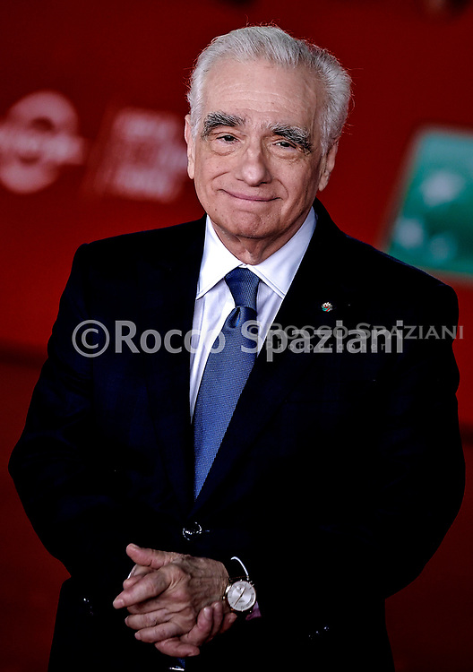 """ROME, ITALY - OCTOBER 21: Martin Scorsese attends """"The Irishman"""" red carpet during the 14th Rome Film Festival on October 21, 2019 in Rome, Italy."""