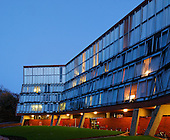 Florey Building, Queens College, Oxford University, Designed by James Stirling Architect