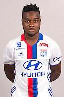 Maxwel Cornet during the photocall of Lyon for new season of Ligue 1 on September 22nd 2016 in Lyon<br /> Photo : OL / Icon Sport