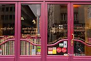 France, Paris, Facade of restaurant Louis Vins in 5th arrondissement