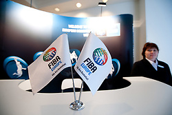 FIBA Europe flags at Eurobasket 2013 Candidate presentation of Slovenia at FIBA EUROPE Board on December 05, 2010 in Munich, Germany. (Photo By Vid Ponikvar / Sportida.com)