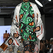 Designer Mojadesola Ayemobola the Best of Graduate Fashion Week showcases at the Graduate Fashion Week 2018, June 6 2018 at Truman Brewery, London, UK.