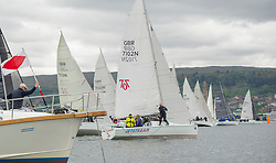 Day1 Hunter 707, start, 7102, Jetstream<br /> <br /> The Scottish Series, hosted by the Clyde Cruising Club is an annual series of races for sailing yachts held each spring. Normally held in Loch Fyne the event moved to three Clyde locations due to current restrictions. <br /> <br /> Light winds did not deter the racing taking place at East Patch, Inverkip and off Largs over the bank holiday weekend 28-30 May. <br /> <br /> Image Credit : Marc Turner / CCC