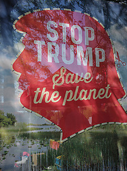 May 24, 2017 - Brussels, Bxl, Belgium - protest march against the President of The United States of America  in the city center of  Brussels, Belgium on 24.05.2017 US President Donald Trump, to attend a NATO (North Atlantic Treaty Organization) summit on May 25.  by Wiktor Dabkowski (Credit Image: © Wiktor Dabkowski via ZUMA Wire)