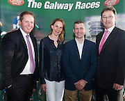 Michael Moloney Galway Race Course Manager with Frances and Pat Smullen and  Niall Rooney Rooney Auctioneers who sponsor  the leading jockey award at the launch of The Galway Races 2016 Summer Festival which runs from the 25th of July to the 31st of July in Galway City. Photo: Andrew Downes :