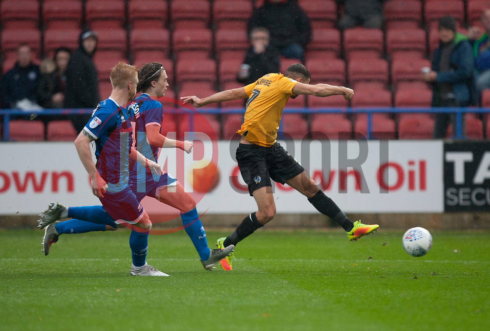 Liam Sercombe of Bristol Rovers (R) has a shot at goal - Mandatory by-line: Jack Phillips/JMP - 02/11/2019 - FOOTBALL - Crown Oil Arena - Rochdale, England - Rochdale v Bristol Rovers - English Football League One