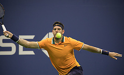 September 2, 2018 - Flushing Meadows, New York, U.S - Juan Martin del Potro during his match against Borna Coric on Day 7 of the 2018 US Open at USTA Billie Jean King National Tennis Center on Sunday September 2, 2018 in the Flushing neighborhood of the Queens borough of New York City. Del Potro defeats Coric, 6-4, 6-3, 6-1. (Credit Image: © Prensa Internacional via ZUMA Wire)