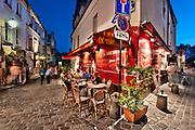 Streets of Montmartre, Paris, France