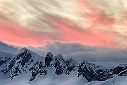Sunset Wilhamenia Bay, Antarctica