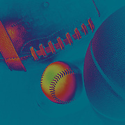 An Artistic studio shot of a Baseball, a Basketball and an American Football. 20th October 2012. Photo Tim Clayton