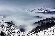 Winter clouds in the gorge