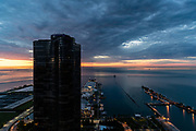 Color breaks the day over Navy Pier
