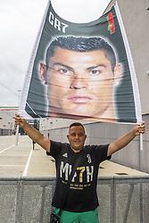 July 16, 2018 - Turin, Italy - Juventus supporters wait for Cristiano Ronaldo, who makes medical checks at the Juventus medical center in Turin, Italy, on July 16, 2018. (Credit Image: © Mauro Ujetto/NurPhoto via ZUMA Press)