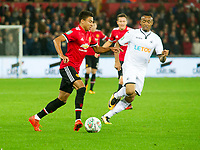 Football - 2017 / 2017 EFL (League) Cup - Fourth Round: Swansea City vs. Manchester United<br /> <br /> Jesse Lingard of Manchester United attacks, at The Liberty Stadium.<br /> <br /> COLORSPORT/WINSTON BYNORTH