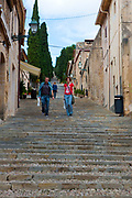 The 365 steps of Calvary, Pollenca, in north western Mallorca.