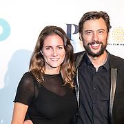 NLD/Amsterdam/20161005 - Filmpremiere Tonio, Kaja Wollfers en partner Kaya de la Rambelje