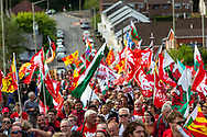 Merthyr Tudful, Wales, UK. 7 September 2019.<br /> <br /> March for Welsh Independence through the streets of Merthyr Tudful.<br /> <br /> Credit: Gruffydd Ll. Thomas