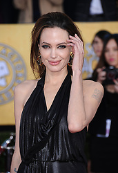 Angelina Jolie attending the 18th Annual Screen Actors Guild (SAG) Awards held at the Shrine Auditorium in Los Angeles, CA on January 29, 2012. Photo by Lionel Hahn/ABACAPRESS.COM
