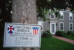 Historical Sign, Castine, Maine, US