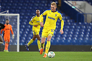 AFC Wimbledon midfielder Mitchell (Mitch) Pinnock (11) dribbling during the EFL Trophy match between U21 Chelsea and AFC Wimbledon at Stamford Bridge, London, England on 4 December 2018.