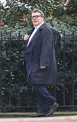 © Licensed to London News Pictures.23/03/2017.London, UK. Labour Party deputy leader Tom Watson walks to Parliament through back streets, the day after a lone terrorist killed 4 people and injured several more, in an attack using a car and a knife. The attacker managed to gain entry to the grounds of the Houses of Parliament, killing one police officer.Photo credit: Peter Macdiarmid/LNP