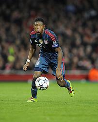 Bayern Munich's David Alaba - Photo mandatory by-line: Joe Meredith/JMP - Tel: Mobile: 07966 386802 19/02/2014 - SPORT - FOOTBALL - London - Emirates Stadium - Arsenal v Bayern Munich - Champions League - Last 16 - First Leg
