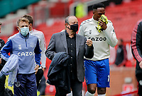 Football - 2021 / 2022 Pre-Season Friendly - Manchester United vs Everton - Old Trafford - Saturday 7th August 2021<br /> <br /> Everton manager Rafa Benitez heads back down the tunnel alongside assistant Francisco de Miguel Moreno and Yerry Mina, at Old Trafford.<br /> <br /> COLORSPORT/ALAN MARTIN