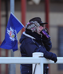 Bristol supporter at Cleve RFC - Mandatory by-line: Paul Knight/JMP - 04/12/2016 - RUGBY - Cleve RFC - Bristol, England - Bristol Ladies v Worcester Valkyries - RFU Women's Premiership