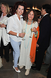 Left to right, CLEO ROCOS and SARAH MILES at the opening of the new St.James Theatre, 12 Palace Street, London SW1 on 13th September 2012.