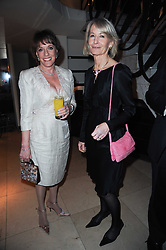 Left to right, ESTHER RANTZEN and SANDRA HOWARD at the Costa Book Awards 2009 held at Quaglino's, 16 Bury Street, London SW1 on 26th January 2010.