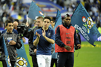 FOOTBALL - UEFA EURO 2012 - QUALIFYING - GROUP D - FRANCE v BOSNIA - 11/10/2011 - PHOTO JEAN MARIE HERVIO / DPPI - JOY SAMIR NASRI (FRA) AT THE END OF THE MATCH