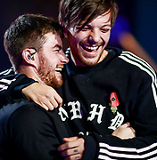 Editorial Use Only. No Book Publishing.<br /> Mandatory Credit: Photo by Dymond/Syco/Thames/Shutterstock (9973150ae)<br /> Anthony Russell and Louis Tomlinson<br /> 'The X Factor' TV show, Series 15, Rehearsals, London, UK - 09 Nov 2018
