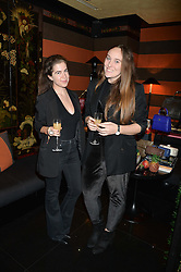 Left to right, MARIE-CLAIRE CHAPPET and LUCINDA TURNER at a private dinner for designer Ethan K held at Blakes Hotel, 33 Roland Gardens, London on 26th October 2016.