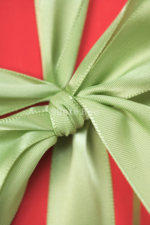 close up of a gift wrap present partial focused