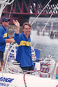 Jeremy Irons arrives in Sydney whilst participating in a World Yacht Race, Sydney, Australia . An instant sale option is available where a price can be agreed on image useage size. Please contact me if this option is preferred.