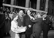17/3/1966<br /> 3/17/1966<br /> 17 March 1966<br /> <br /> Mr. Sean O'Bradaigh Vice President of NAIDA pinning a shamrock on Dr. P.J. Hillery Minister for Industry and Commerce; Also in the Picture is Mr. Sydney Gibson President of the Federation of Irish Industries