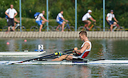 Plovdiv BULGARIA. DEN LM1X Henrik STEPHANSEN. Winner and Gold Medalist Men's Lightweight Single Sculls. 2012 FISA Junior and Non Olympic . Rowing Championships, Plovdiv Rowing Course.     08:36:49  Sunday  19/08/2012   [Mandatory Credit Peter Spurrier: Intersport Images]...
