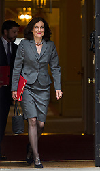 © Licensed to London News Pictures. 02/06/2015. Westminster, UK. Secretary of State for Northern Ireland THERESA VILLIERS leaving Number 10 Downing Street in London following a cabinet meeting. Photo credit: Ben Cawthra/LNP