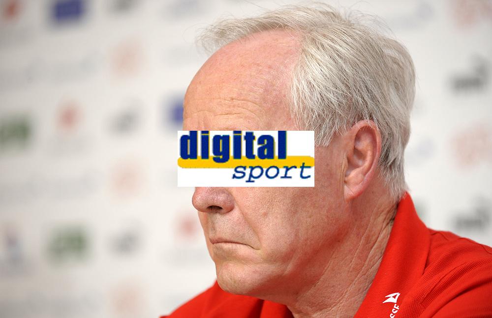 Trainer Jakob Koebi Kuhn bei der Pressekonferenz. © Valeriano Di Domenico/EQ Images