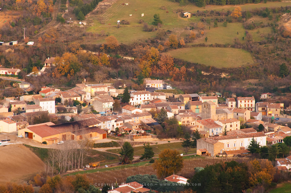 Domaine d'Antugnac. Limoux. Languedoc. Last rays of light a late winter evening. France. Europe.