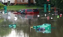 Flooding in Round Lake Beach, Ill. on Wednesday, July 12, 2017. Photo by Joe Shuman/Chicago Tribune/TNS/ABACAPRESS.COM