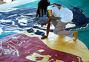 Neville Garrick painting backdrop