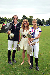 Left to right, NINA CLARKIN, PRINCESS BEATRICE OF YORK and The MARCHIONESS OF MILFORD HAVEN  at a charity polo match organised by Jaeger Le Coultre was held at Ham Polo Club, Richmond, Surrey on 12th June 2009.