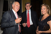MICHAEL COCKERELL; SIR BILL CASH; LADY CASH, Launch hosted by Quartet books  of Madam, Where Are Your Mangoes? by Sir Desmond de Silva at The Carlton Club. London. 27 September 2017.